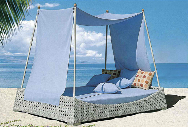 light blue bamboo daybed with canopy and fabric for shade blue mattress throw pillows