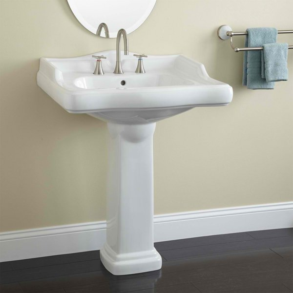 A Beautifully Designed Basin Sits Atop A Classic Pedestal To Create The  Unique Style Of The Large Dawes Pedestal Bathroom Sink. Pair This Elegant  Lavatory ...