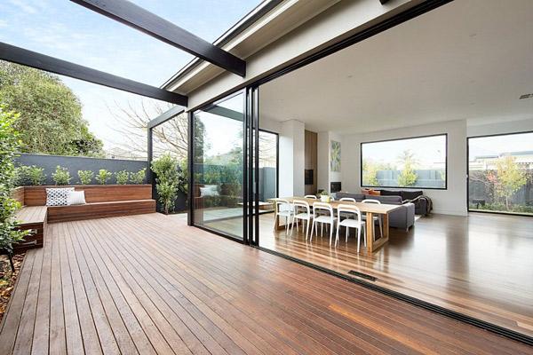 wooden deck pergola