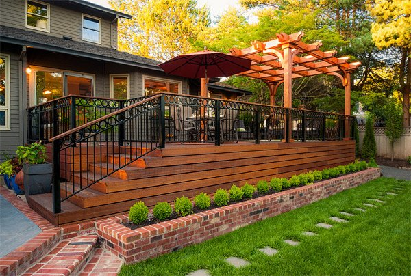20 Timber Decking Designs that can Append Beauty of your ... on Wood Patio Ideas id=55831