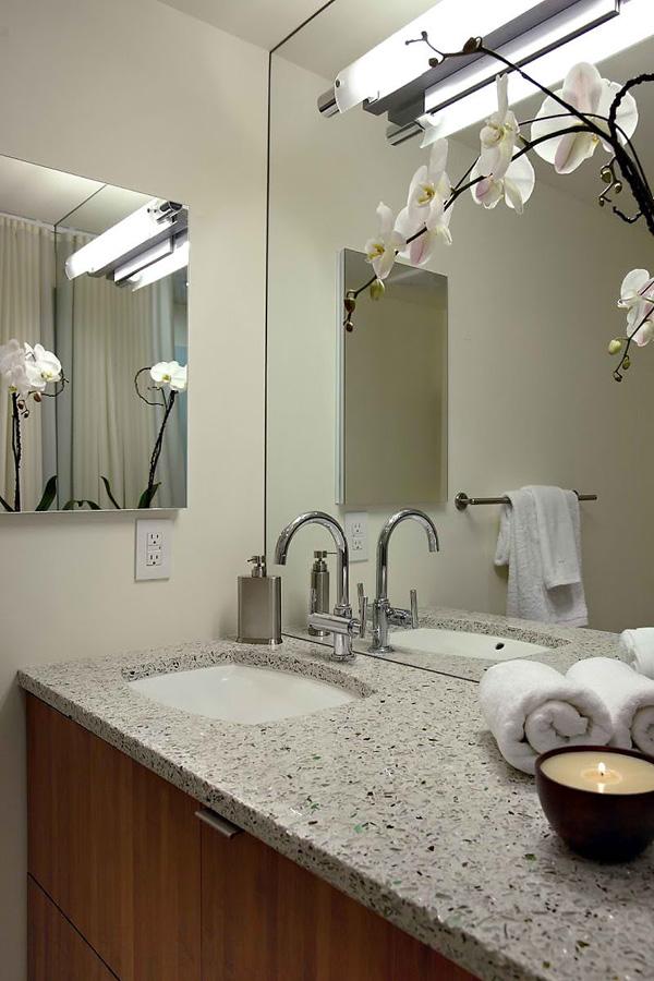 mosaic tile bathroom countertop