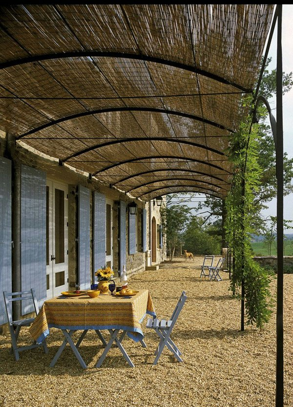 curve barrel awning