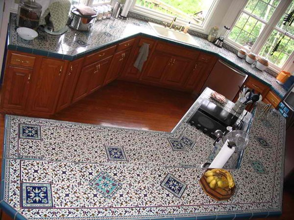 hand painted countertop