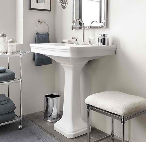 20 Fascinating Bathroom Pedestal Sinks | Home Design Lover