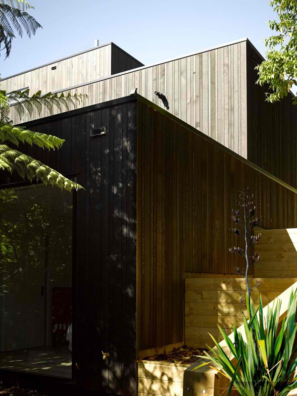 wood plank exterior wall