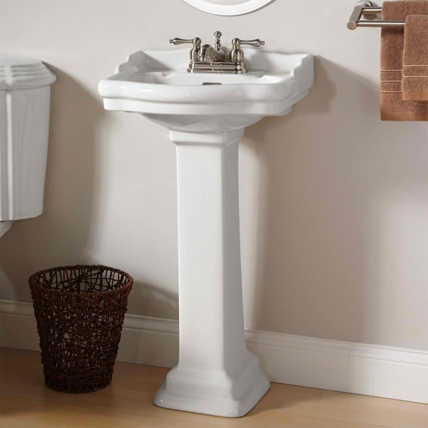 small pedestal bathroom sink 20 fascinating bathroom pedestal sinks home design lover 20555