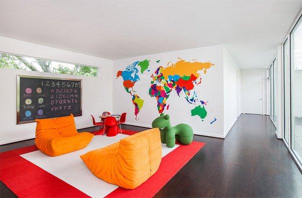 wall map mural modern