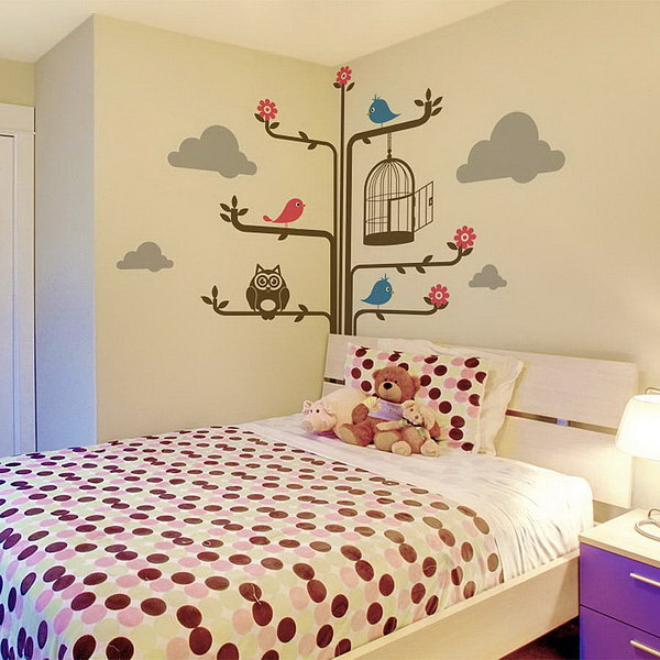 20 Cute Wall Decals and Murals for Kids Bedroom | Home Design Lover