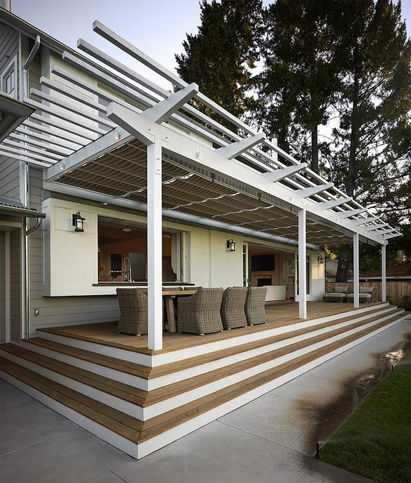 Adjustable Fabric Exterior Awning Ideas