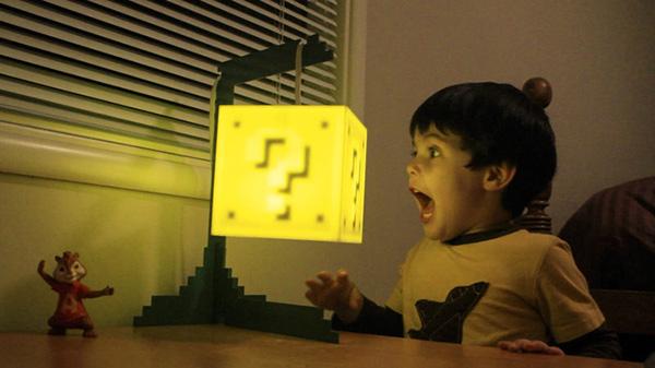 super mario block lamp