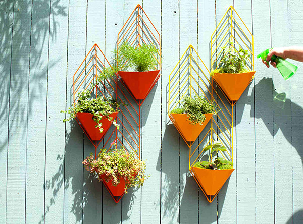 triangular planters