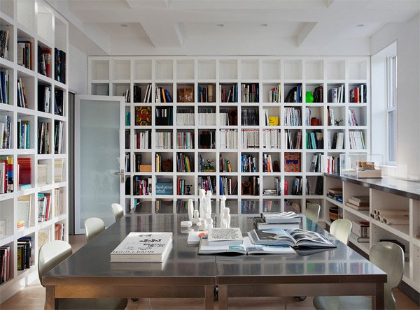 20 functional and cool designs of study rooms home Small library room design ideas