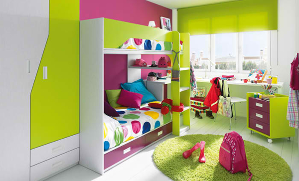 colorful kid bedroom design