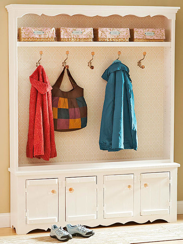 bookcase coat rack