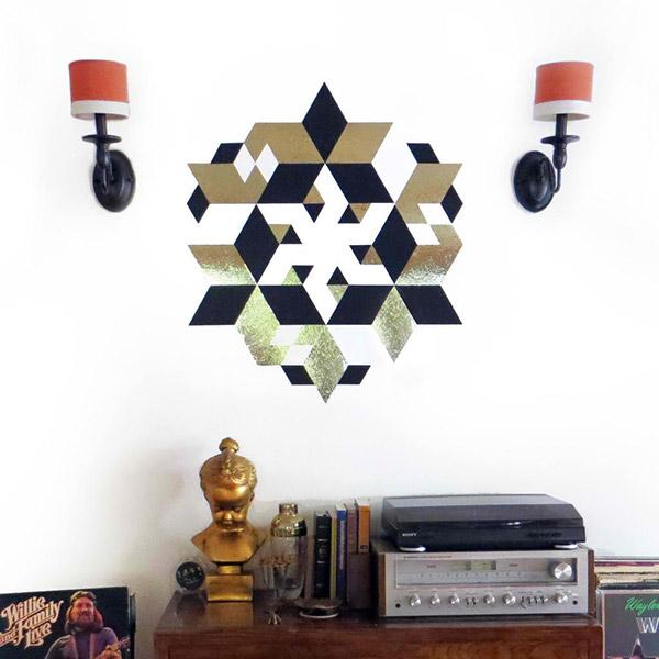 Facet Geometric Vinyl Tiles