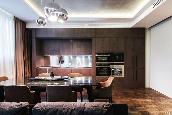 Strong And Bold Interior Of A Modern Apartment In Kiev