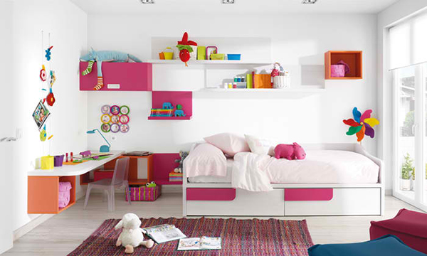 pink bedroom design