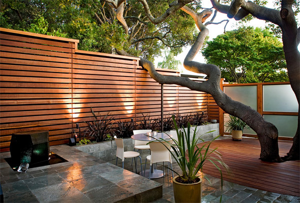 wooden fence patio