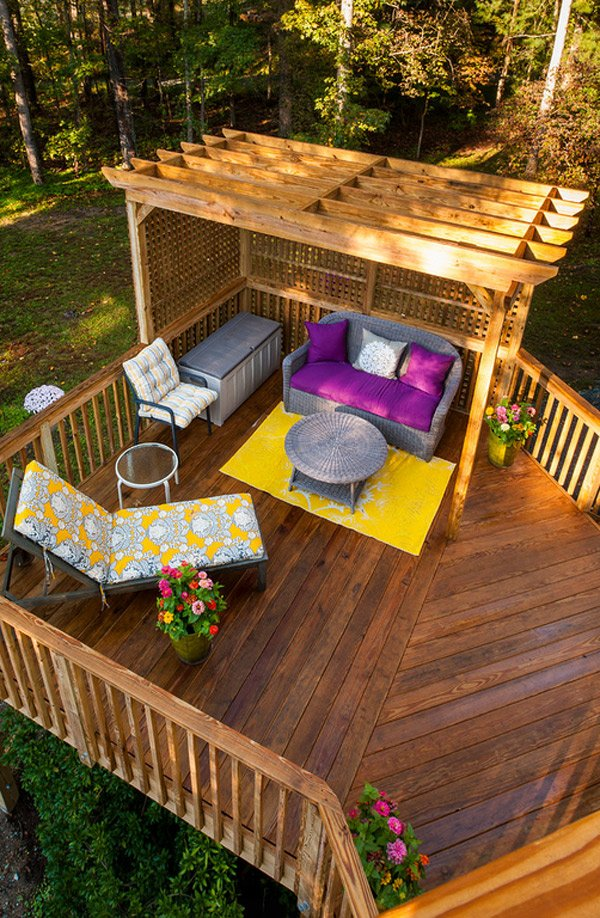 20 timber decking designs that can append beauty of your for Garden decking designs pictures