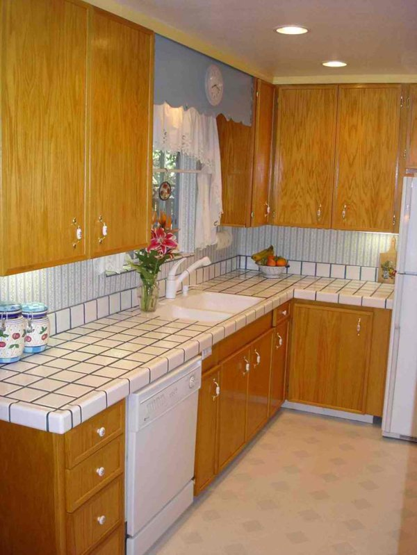 white tile kitchen countertops. Simple White White Tiles And Tile Kitchen Countertops T