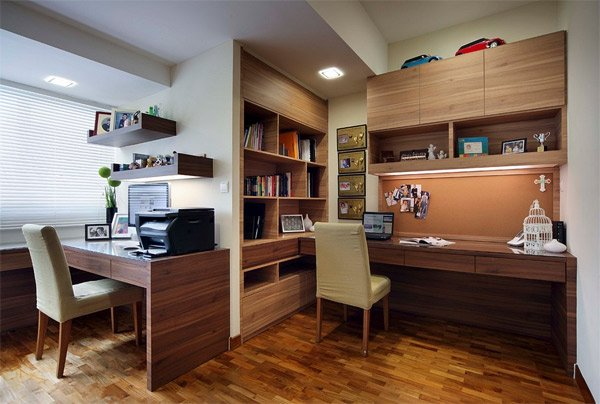 20 functional and cool designs of study rooms home Home study room ideas