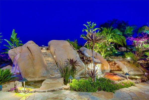 big stone waterfall