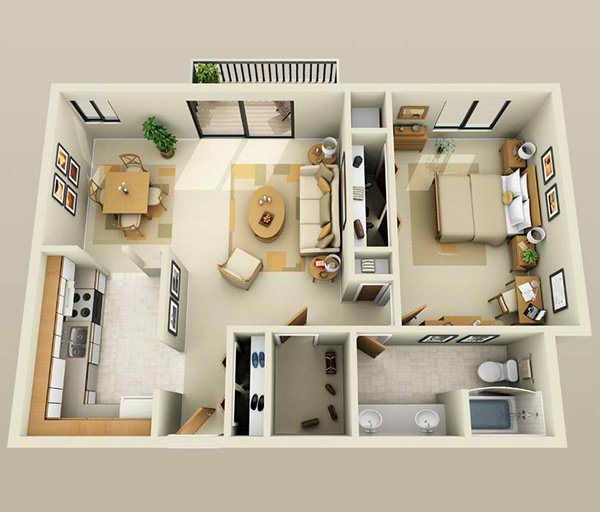 One Bedroom Apartments: 20 One Bedroom Apartment Plans For Singles And Couples