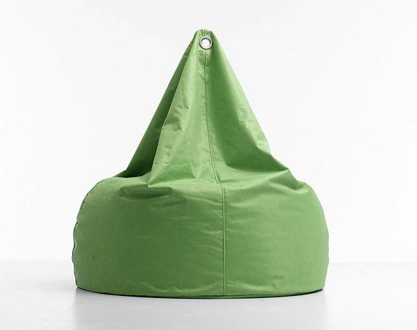 green bean bag furniture