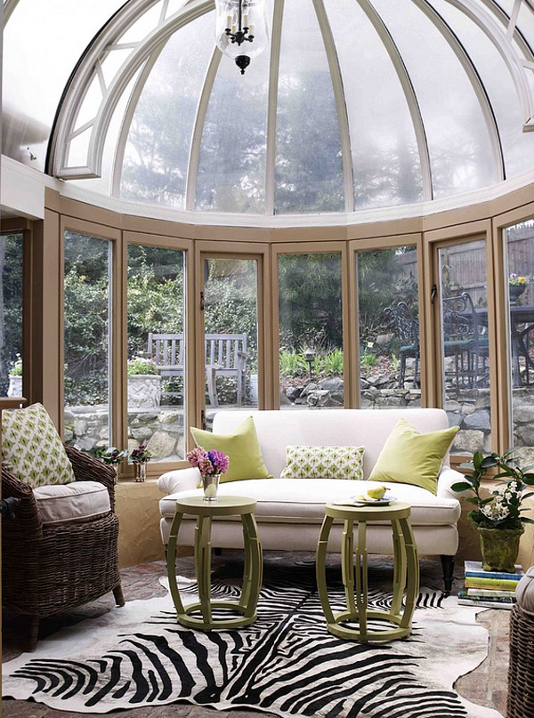 Get tanned with 20 glossy glass roofed solariums home for Victorian sunroom designs