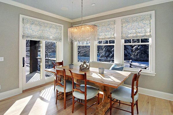 20 Dining Room Window Treatment Ideas | Home Design Lover