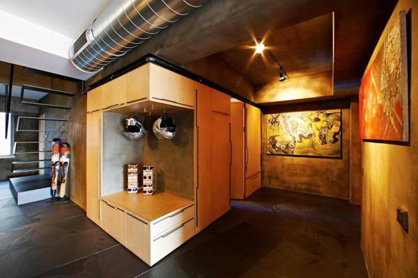 Volumes And Dimensions Are Creatively Made In The Interior Through The  Shelves And Cabinets Here.