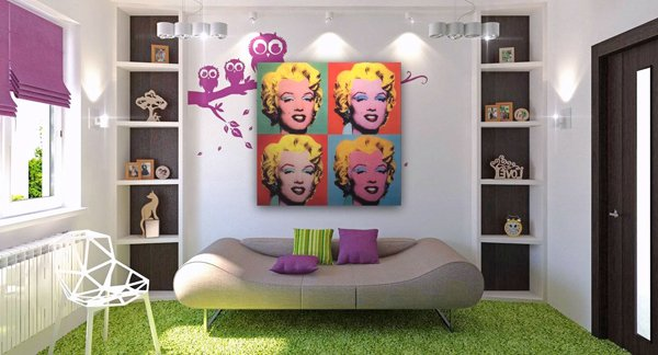 20 Pop Decorating Ideas for the Living Room | Home Design ...