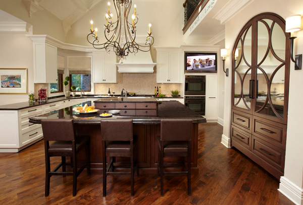 mirrored furniture kitchen