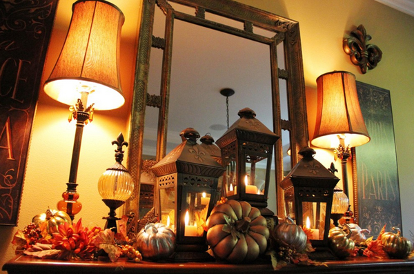 fall decors mantles