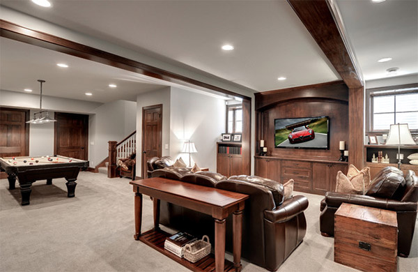 traditional basement