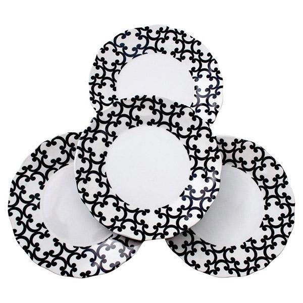 Lappertizer Black Scroll Plates