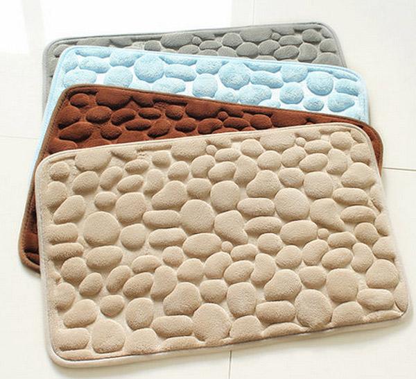 stone foam bathroom floor rug