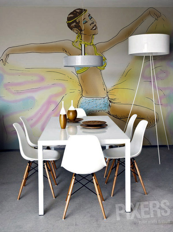 dining area mural design