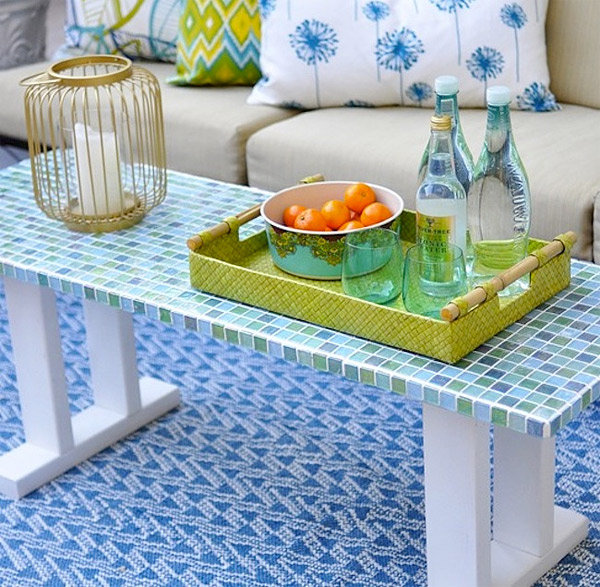 mosiac tile table