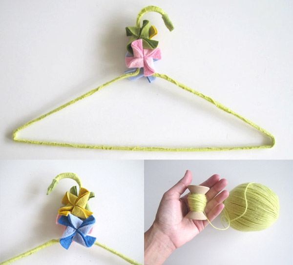 DIY Wrapped Hanger