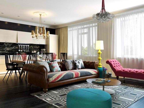 brown vintage sofa