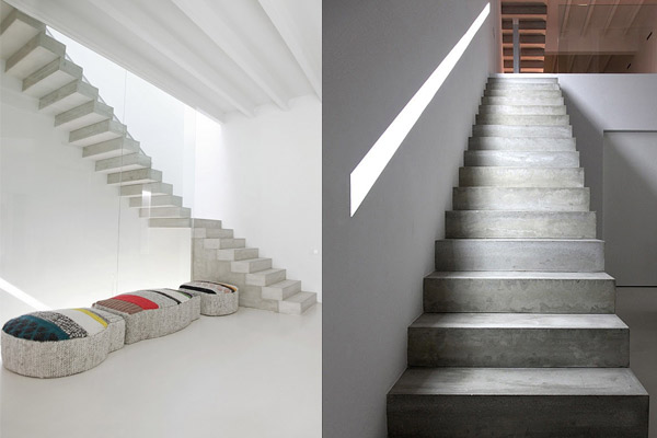 concrete eclectic staircase