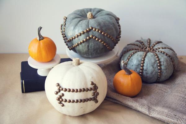 Nail Head Pumpkin Centerpiece