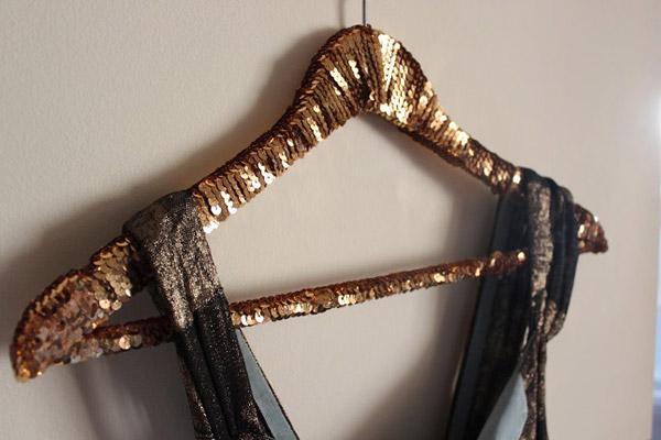 DIY Sequin Hanger