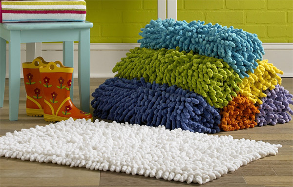 shag chenile bathroom floor rug