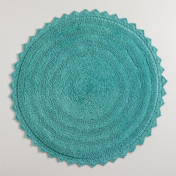 crochet border bathroom floor rug