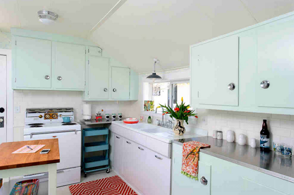 pastel cupboards