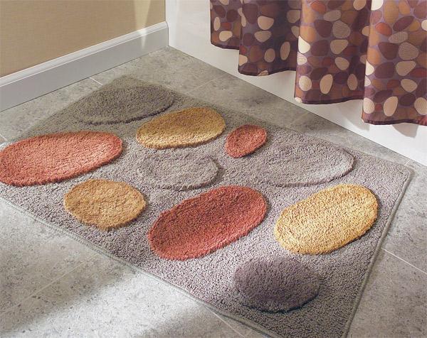 non-skid microfiber bathroom floor rug