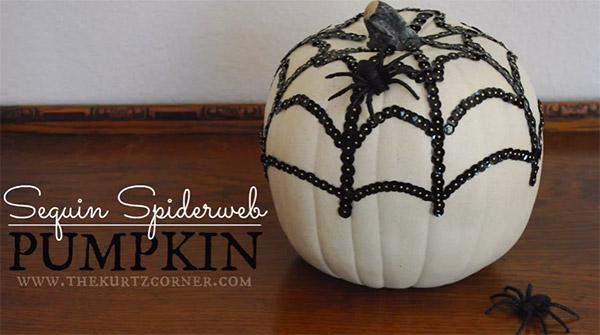 Sequin Spiderweb Pumpkin