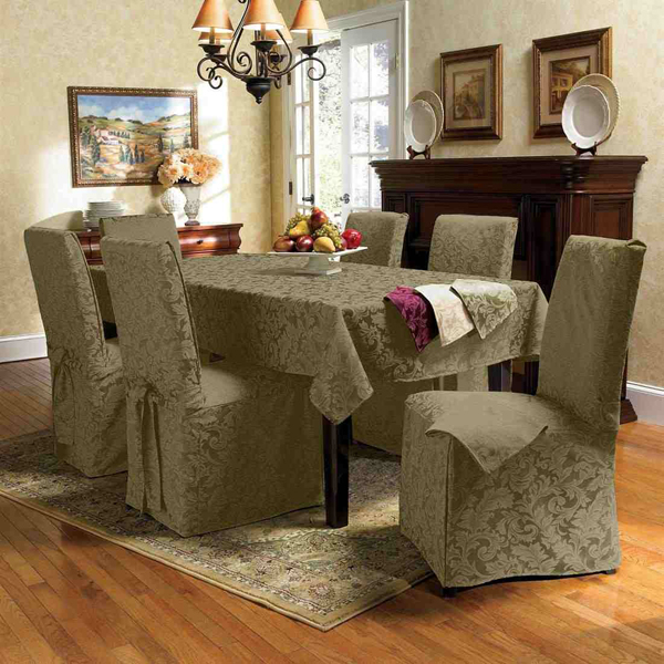 Dining Chair Covers Leaf Pattern